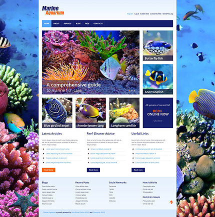 Marine Aquarium WordPress Theme