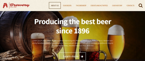 Brewery - WordPress portfolio themes