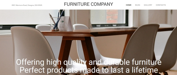 Furniture Company - Best WordPress portfolio themes 2015