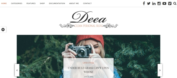 Deea - wordpress themes 2015