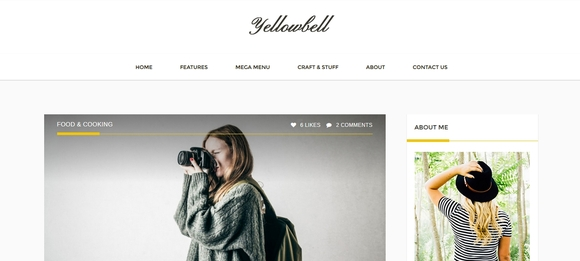 Yellowbell - portfolio wordpress themes