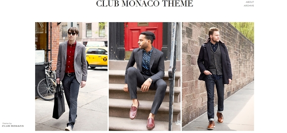 Club Monaco - best free tumblr themes
