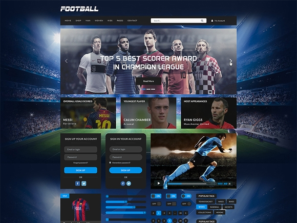 Sport Kit UI - ui kits