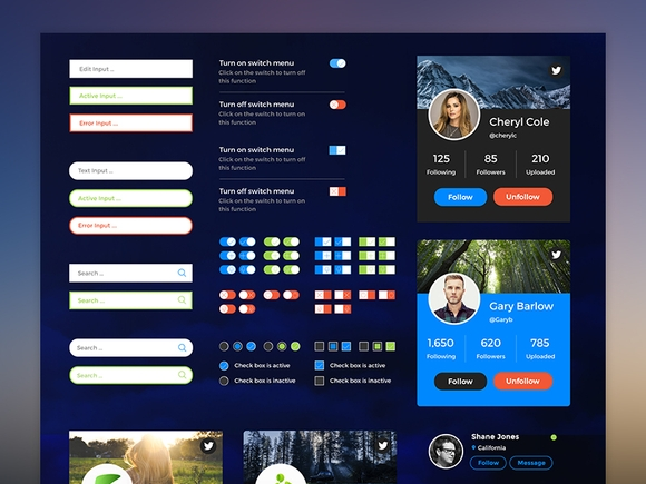 Retina Web UI Kit - ui design 2015