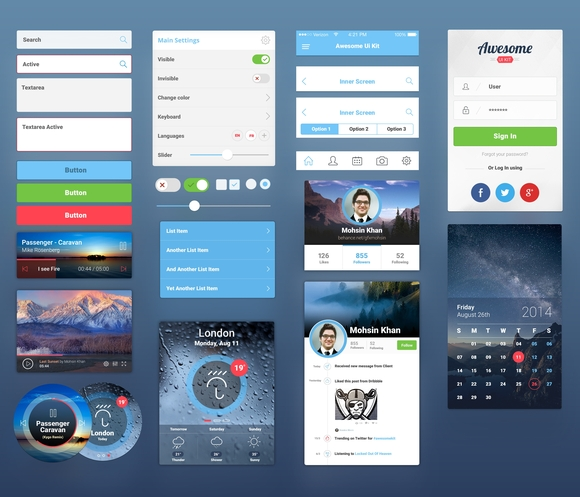 Mobile UI - ui kits 2015