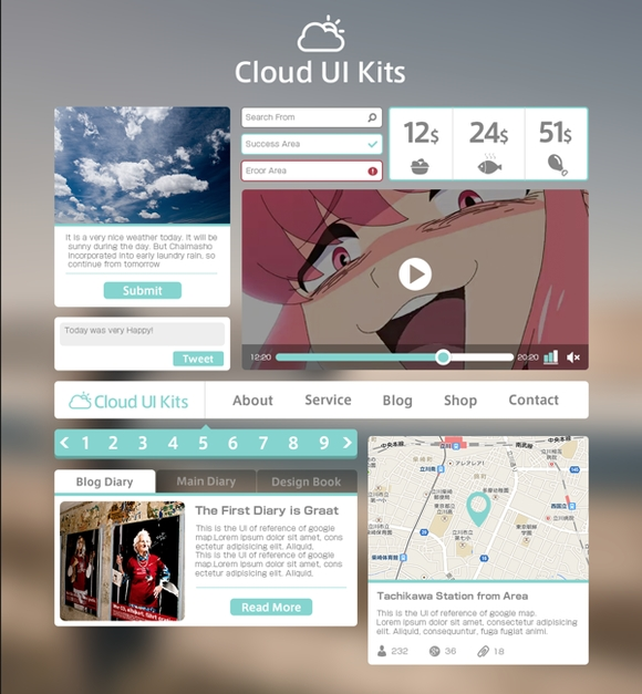 Cloud UI Kits - user inteface design
