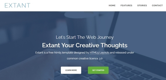 Extant - best html5 templates 2015