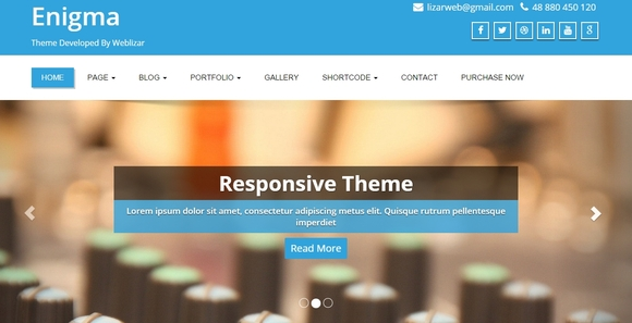 Enigma - wordpress themes