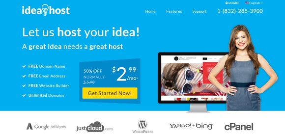 Ideahost - cheap web hosting services