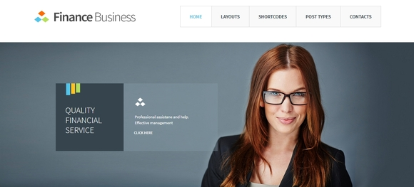 Finance Business - responsive business wordpress themes