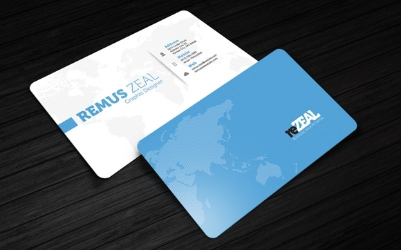 Rezeal Business Card Template - free business cards templates 2016