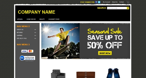 Surf - free ecommerce website templates