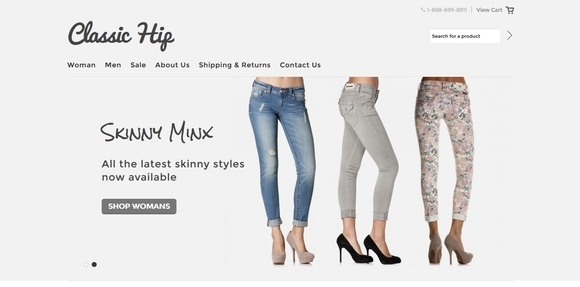 Classic hips - best free e-commerce website templates 2015
