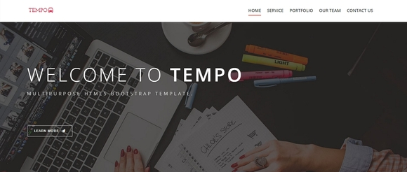 tempo - free bootstrap template
