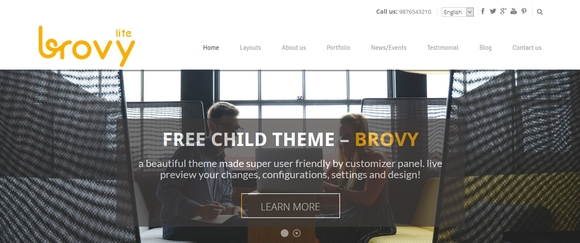 Brovy - wordpress themes free