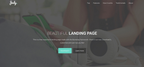 Jedy - bootstrap html5 template
