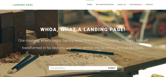 Landing Page - free bootstrap templates 2016