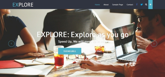 Explore - wordpress free themes