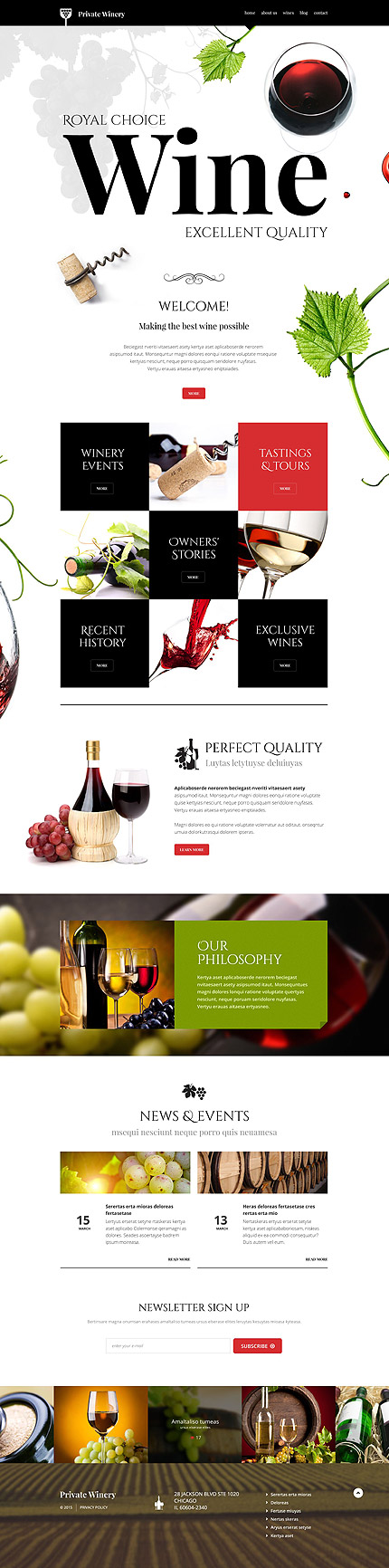 Food And Beverages WordPress Theme
