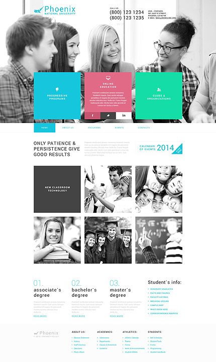 Education WP Template
