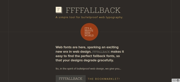 FFFFALLBACK - typography tools for web designers